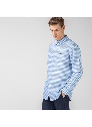 Lacoste Erkek Slim Fit Gömlek CH0053.53M Mavi